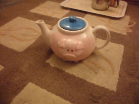 For Sale - Hand Painted Pig Teapot Brand New