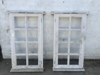 Pair of Georgian style wooden frame with sealed units (127 cm h x 68 cm w )