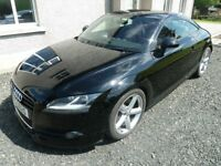 2007 AUDI TT MK2 3.2 V6 DSG BLACK MAGMA RED LEATHER FULL MOT FSH AUTO QUATTRO 18 ALLOYS