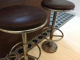Retro vintage industrial old diner stools breakfast bar