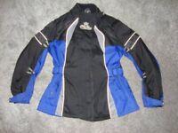 MOTORCYCLE CANVAS JACKET IN BLUE & BLACK