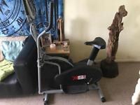Cross trainer / exercise bike cardio fitness
