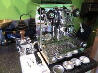 Rocket Giotto espresso coffee machine and accessories