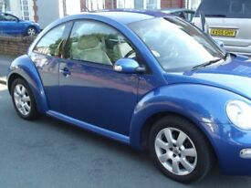 VW Beetle 2.0L Blue with Cream Leather Interior