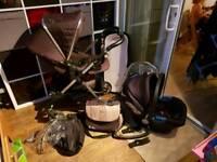 Silver cross wayfarer set with car seat BLACK