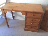 Classic Used Wooden Desk with handy side drawers!