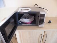 MICROWAVE, LOGIK 20 LITRE WITH GRILL SILVER BOXED USED TWICE