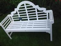 LUTYENS GARDEN BENCH WHITE BRAND NEW LARGE
