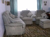 3 Piece Suite with Storage Footstool
