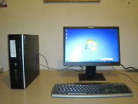 HP Tower setup. Core2-Duo 2.93Ghz x2. 4gb rams. win7. 19 LCD. keyboard, optical mouse. can deliver