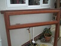 Mahogany Solid Wood Window Frame - 48 wide x 47 inches high