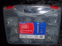 JOBLOT MULTIPURPOSE WOOD SCREWS 1000 SCREWS PER CASE BRAND NEW