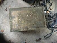 Brass fireside box