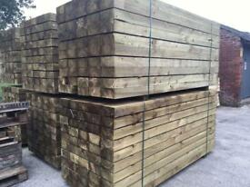 🍭Pressure Treated Wooden Railway Sleepers Excellent Quality