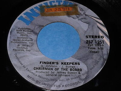 Chairman Of The Board: Finder's Keepers / Same 45 - Soul (Samen Keeper)