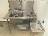 Catering equipment commercial stainless steel sinks restaurant kitchen items basins handwash taps