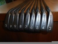 "A Set Of 9 "" YASUDA "" IRONS. 3 TO S/W,"