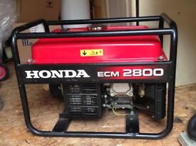 Honda ECM2800 Generator (As New, Used Twice)