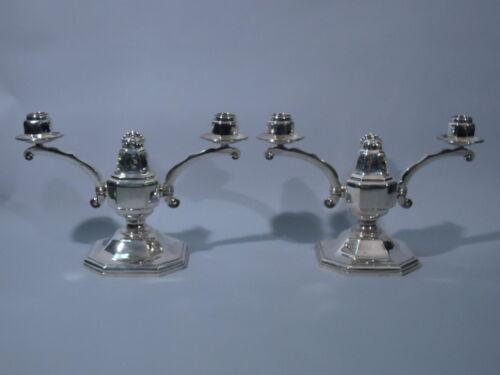 Art Deco Candelabra - Modern Classical Pair - European 950 Silver  C 1930