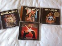 Star Wars soundtrack CDs and dvd