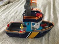 Toy bundle- Imaginext boat and Transformer remote control car