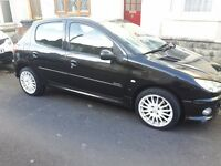 Peugeot 206 black 2005 5door car