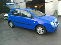 02 Vw Polo 1.2 E 5 door Moted May 2017 history only 74000 mls( can be viewed inside anytime)