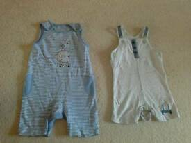 Cotton dungarees 0-3 months mini club (boots)