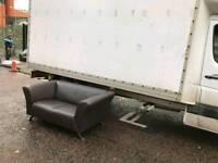 2 seater sofa in a brown leather Hyde throughout ( MINT MINT CONDITION)