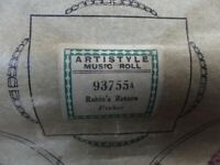 The Robins Return - Pianola Roll boxed and in very good condition. Artistyle Music Roll (93755A)