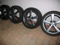 "4x100 17"" wolfrace alloys"