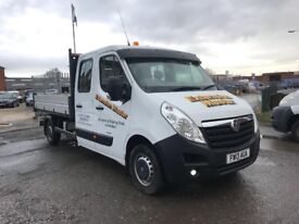 2013 VAUXHALL MOVANO CREW CAB TIPPER PICK UP *** NO VAT *** LOW MILAGE ***