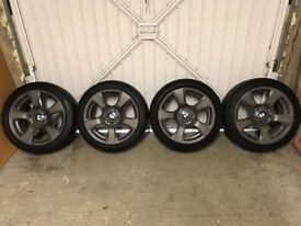 BMW 3 SERIES E90 E91 E92 5x120 17 inch grey alloy wheels 6770239 style, set of 4
