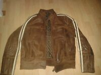 Leather jacket as new condition