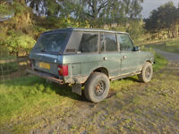 Stripped back road legal Range Rover Classic 3.5 V8 with LPG