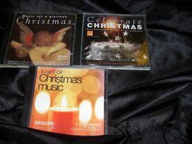 3 CHRISTMAS CD ALBUMS