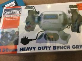 Draper heavy duty bench grinder