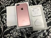 iPhone 7 Plus 128GB Rose Gold colour Unlocked to any network