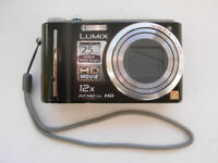 Panasonic Lumix DMC-TZ7; 2 batteries; Leica lens; 10.1MP; 12x Optical Zoom; Ultra-wide angle; HD