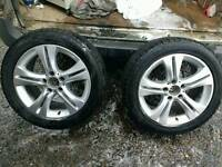4 x Mercedes alloys with tyres