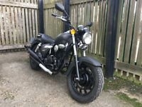 2014 Keeway Superlight 125 cruiser custom, 1 years MOT, great condition, low mileage