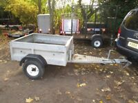 FULLY GALVANISED 4-6 X 4-0 GOODS TRAILER WITH 5FT EXTENDED A FRAME...