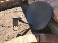 Satellite dish and box