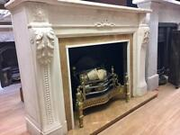 Period Marble Fireplace Surround & Fire basket