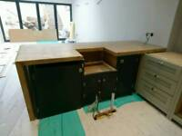 Brand New Handmade Farrow and Ball Kitchen Units Island Unfinished Project