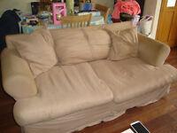 2 Cloth Covered Sofas.