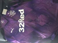 Signed 2015/16 3rd Rangers purple top