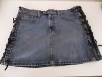Ralph Lauren Rocker Mini Denim Skirt - UK Size 10 - (US Size 6)