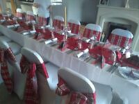 Wedding chair covers £1 also candy cart donut walls and tablecloths...and more