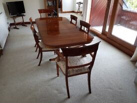 Yew dining room suite , excellent condition , almost as new will sell seperately, Buyer to collect .